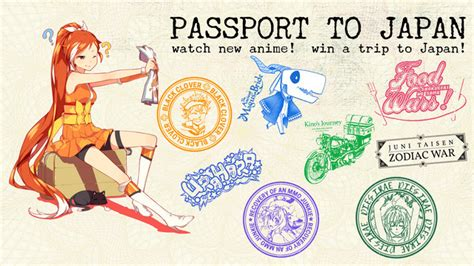 Japan Sweepstakes - passport to japan sweepstakes my anime sekai