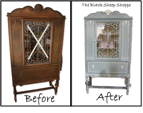chalk paint old china cabinet blue white vintage china cabinet chalk paint painted