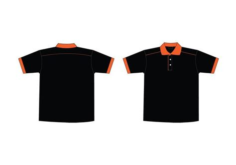 Collar T Shirt Template Psd by Free Black Orange Collar T Shirt Template