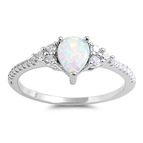 teardrop ring new 925 sterling silver solitaire wedding