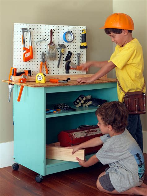 diy toy bench how to turn old furniture into a kids toy workbench how