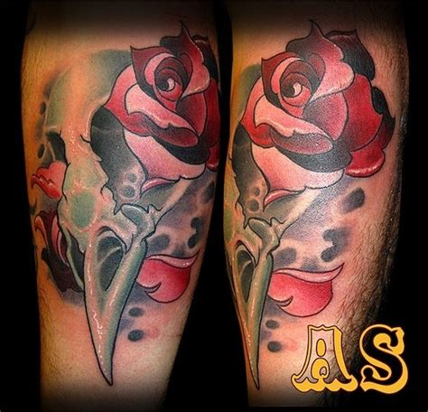 skull rose and bird tattoo bird skull and roses by matt truiano tattoonow