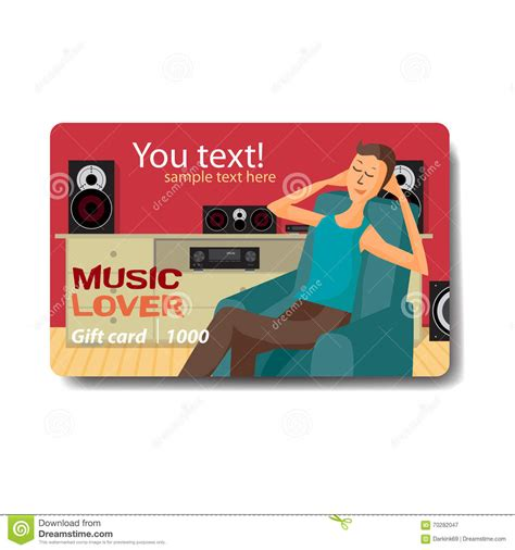 Discount Gift Cards For Sale - music lover sale discount gift card branding design for music stock vector
