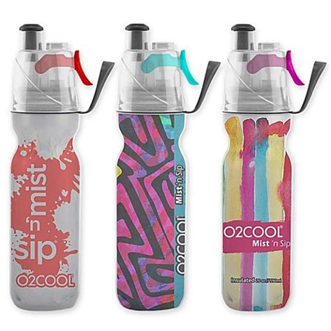 bed bath and beyond water bottle o2cool 174 arcticsqueeze 174 insulated mist n sip 174 water bottle