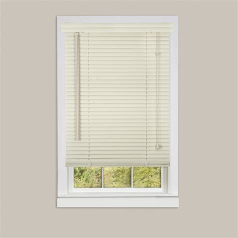 Vinyl Mini Blinds Inexpensive Mini Blinds 25x64 Vinyl Alabaster Mazer