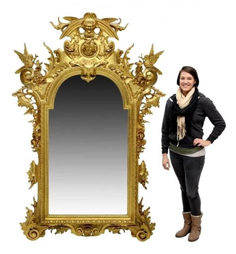 Mercury Baroque Made In Italy by Large Italian Baroque Style Wall Mirror With Birds