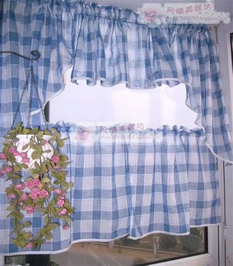 blue check curtains compare prices on blue check curtains online shopping buy