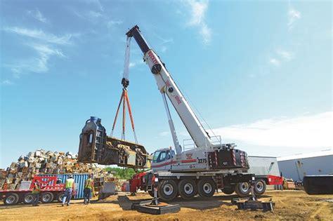 rocket shears rocket crane service lifts 130 000 lb steel shear with link belt crane