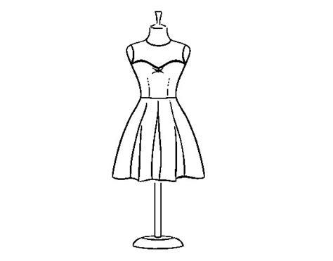 Dibujo de vestido palabra de honor para colorear dibujos net