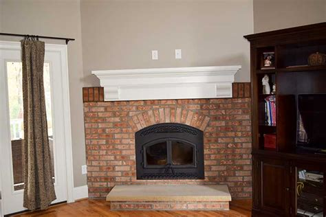 brick fireplace lake norman mooresville