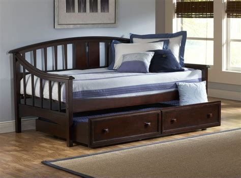 cymax schlafzimmer sets daybed with trundle drawer in brown