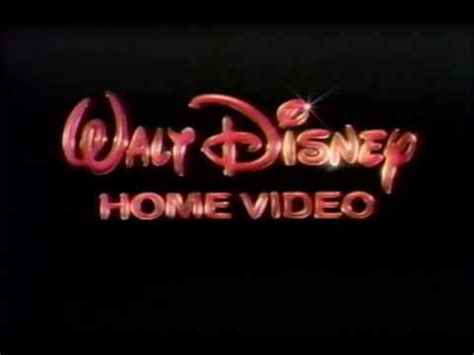 1986 walt disney home video logo aka youtube walt disney home video usa 1990 youtube