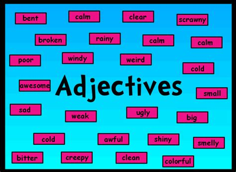 exle of adjective adjectives smore newsletters
