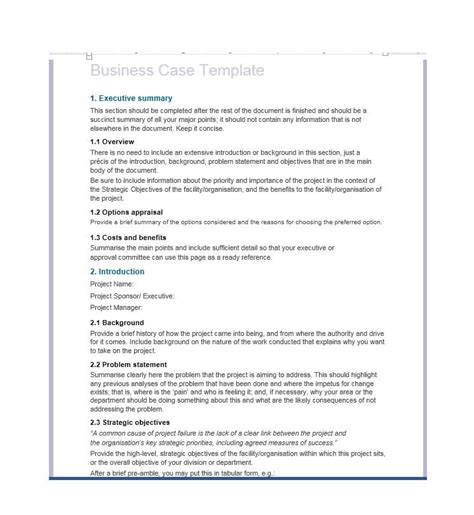 business case 30 simple business case templates exles template lab