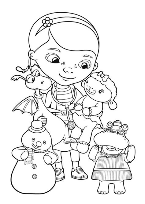 doc mcstuffins characters coloring pages amigos coloring pages for kids and friends on pinterest