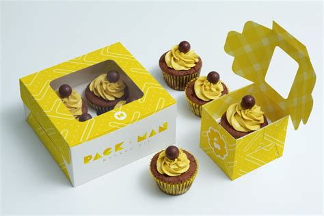 Box Cupcakes free cupcake box mockup pixlov