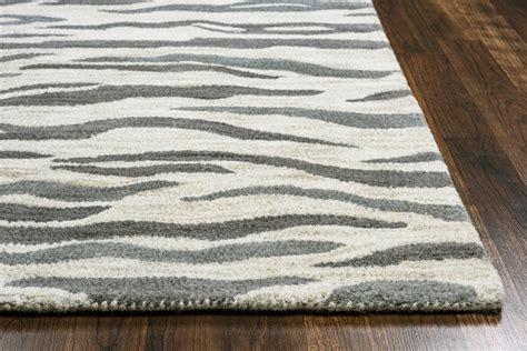 zebra print rug 8x10 valintino abstract zebra wool area rug in light gray blue 8 x 10