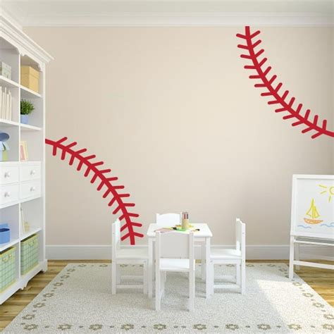 sports wall decals for nursery wall decal baseball stitches wall decal baseball