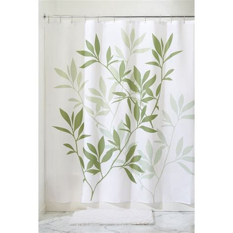 96 inch shower curtain interdesign leaves x long shower curtain green 72 inch by