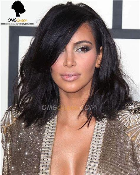 kim kardashians new hairstyle 2015 sexy kim kardashian haircut bob lace wigs virgin brazilian