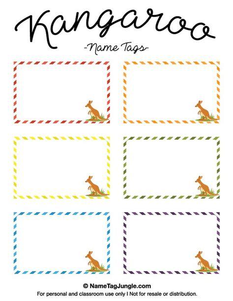 printable name tags pdf free printable kangaroo name tags the template can also