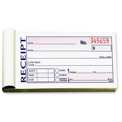 3 up receipt book downloadable template number machine pro