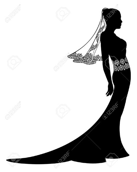 lace wedding dress clipart wedding dress silhouette clipart clipground
