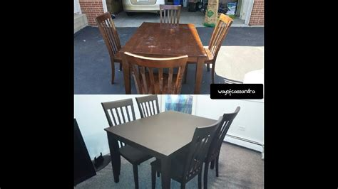 Painting Dining Room Table by Spray Painting My Dining Room Table