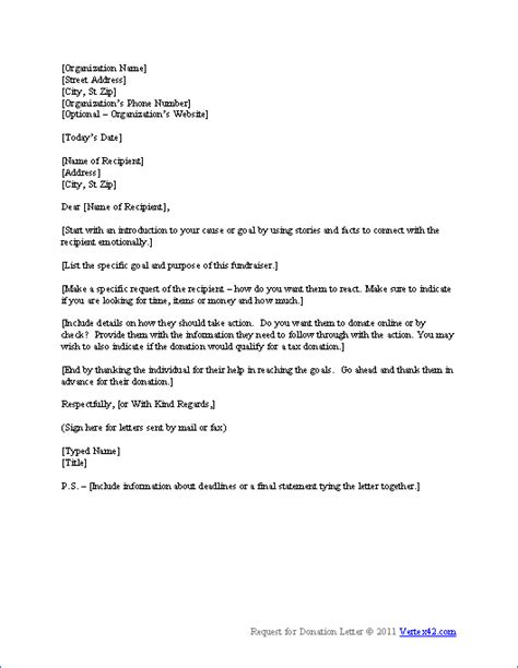 request  donation letter template sample donation letters