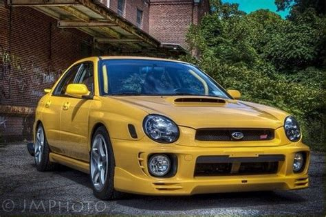 yellow subaru wrx sell used 2003 subaru impreza wrx sedan 4 door 2 0l sonic