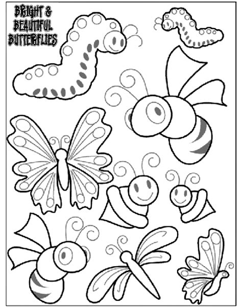 coloring pages free crayola bright and beautiful butterflies 2 coloring page crayola