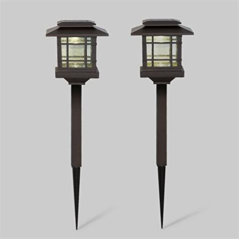 bronze solar path lights 2 bronze solar path lights with warm white leds outdoor
