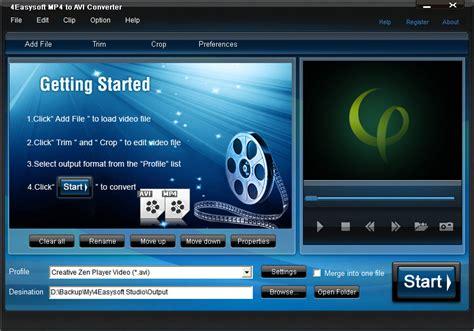best mp4 to avi converter 4easysoft mp4 to avi converter bei freeware
