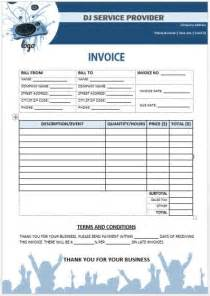 dj invoice template dj disc jockey invoice template 15 templates in word