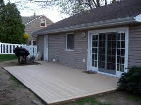 decking concrete patio trex deck cement composite decking from home