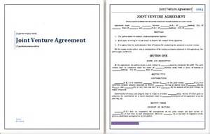 Joint Venture Agreement Template Free by Doc 658423 Word Joint Venture Agreement Template
