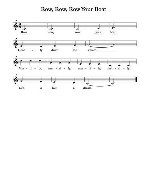 row row your boat secret 42 best sheet music images on pinterest sheet music
