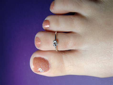 Handmade Toe Rings - sterling silver knot toe ring handmade silver knot toe ring