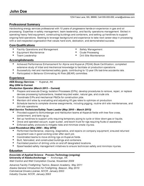 Process Operator Resume Examples Cover Letter Samples