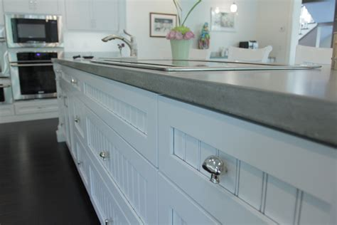 Light Colored Concrete Countertops by Light Airy Home Cabinets By Graber