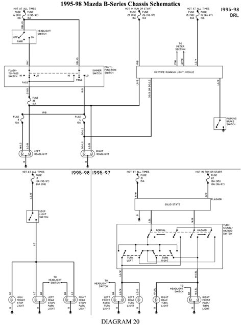 service manuals schematics 1994 mazda b series parking system repair guides wiring diagrams wiring diagrams autozone com
