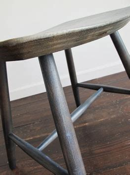 Greyish Green Stool by Stained Beech Stool Denmark