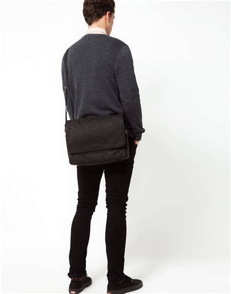 Ck Messenger calvin klein messenger bag in black for lyst