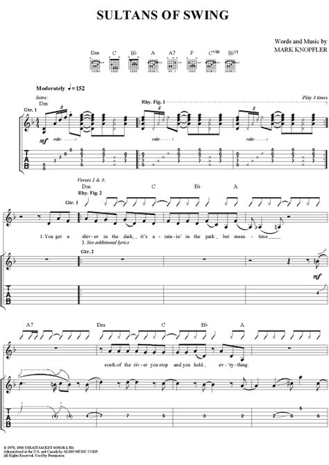 sultans of swing rhythm guitar swing guitar tabs swing and jump blues guitar lessons