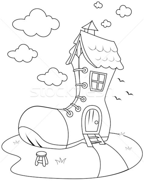 shoe house coloring pages educational material stock photos stock images and