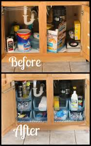 Under Kitchen Sink Cabinet by Under Sink Cabinet Organization I Heart Planners