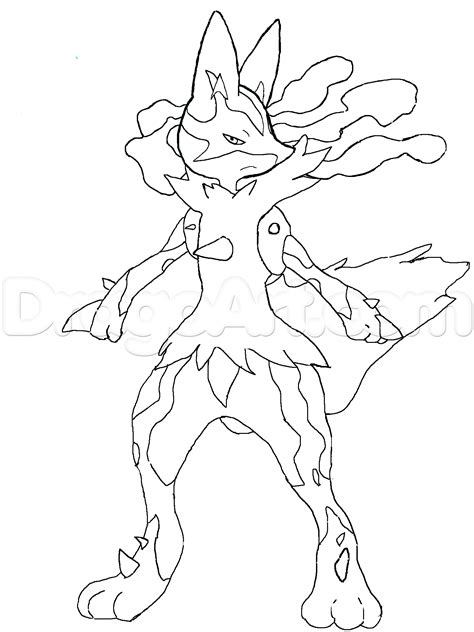 pokemon coloring pages of mega lucario free pok 233 mon lucario coloring pages