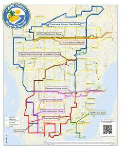 map of cape coral florida neighborhoods cape coral bicycling interactive maps