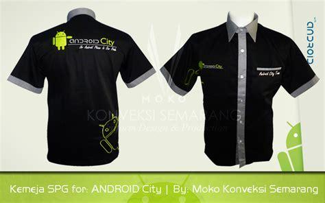 Baju Baju Android baju kerja android city moko konveksi semarang