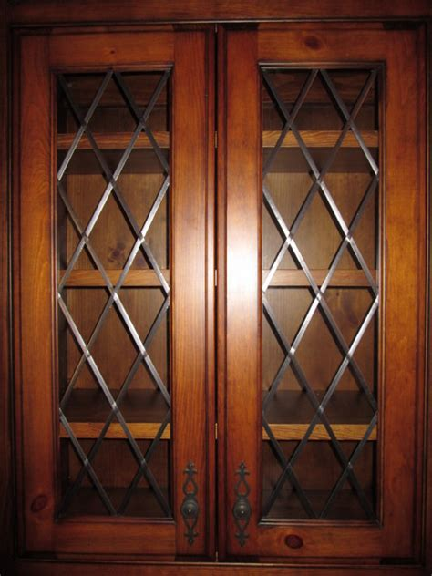 Stained Glass Cupboard Doors by Stained Glass Library Cabinet Doors